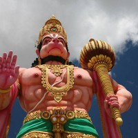 Gigantic Idol of Hanuman at a Ram Temple near Mysore, Karnataka.