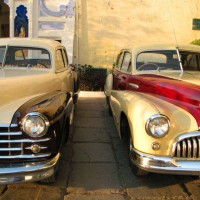 These vintage cars were parked by the entrance in front of the private residential area of Udaipur City Palace.